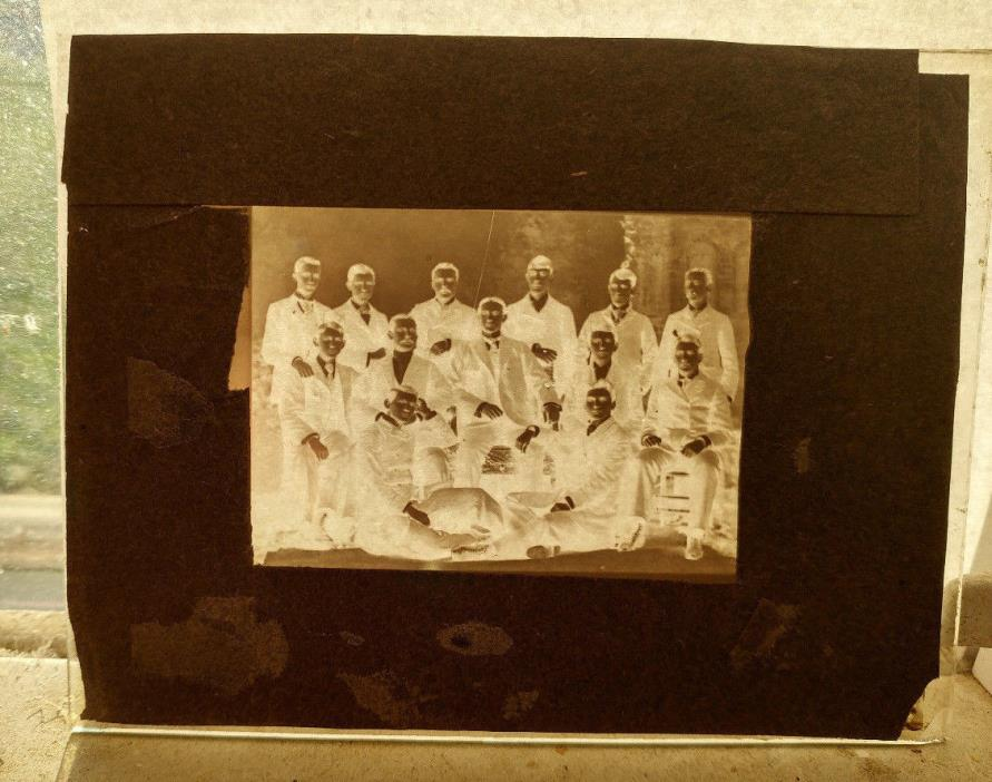 1893 Magic Lantern Slide Rugby Team Pittsburgh PA Class Photo Football