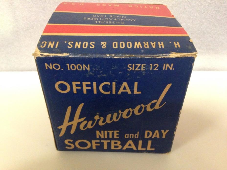 VTG Harwood No 100N Official NITE AND DAY SOFTBALL 12