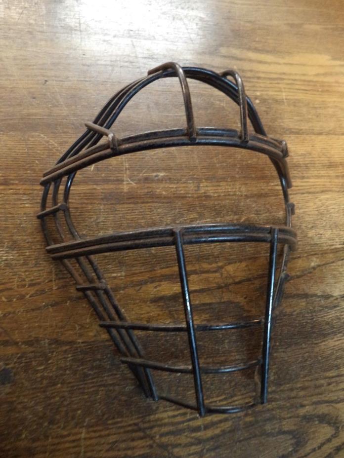 vintage baseball catchers mask metal frame great old sports display