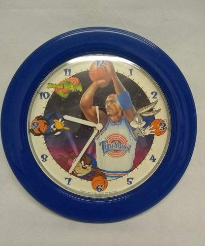 Vintage 1996 Space Jam The Movie Wall Clock