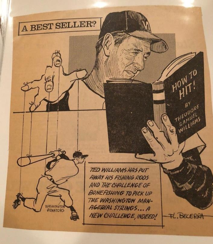 Ted Williams Newspaper Sketch