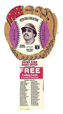 1977 PEPSI-COLA MSA REGGIE JACKSON NY YANKEES Baseball Disk Card in Glove