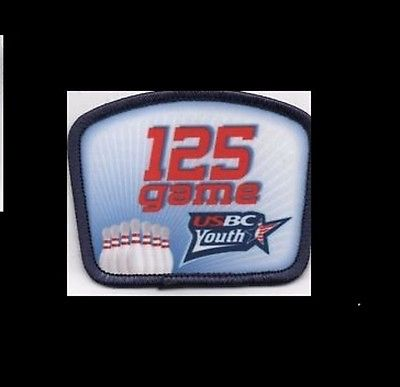 USBC 125 GAME YOUTH BOWLING PATCH: FREE SHIPPING