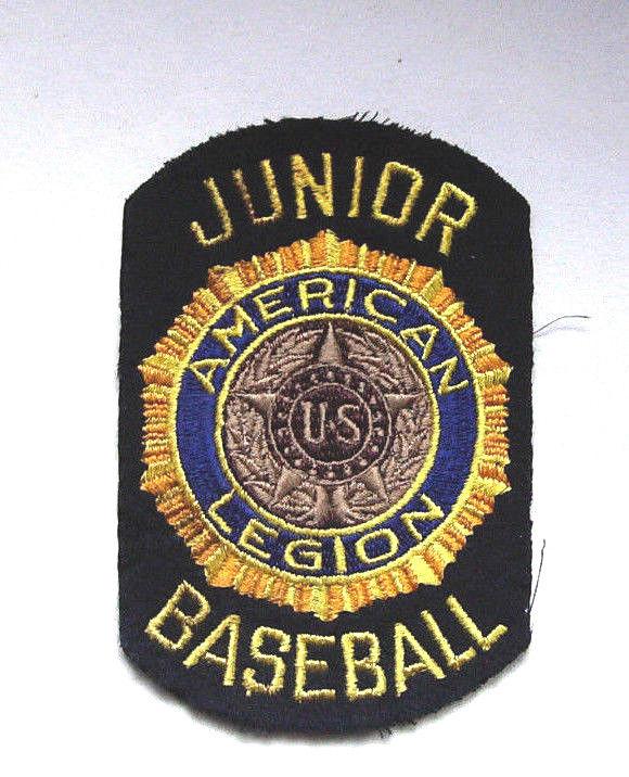 Vintage American Legion Junior Baseball Felt Patch - RARE