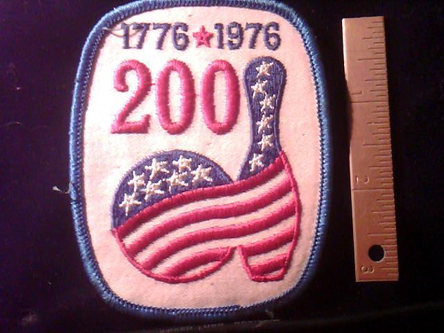 1776*1976-BOWLING -PATCH-THREE  INCHES WIDTH--VINTAGE