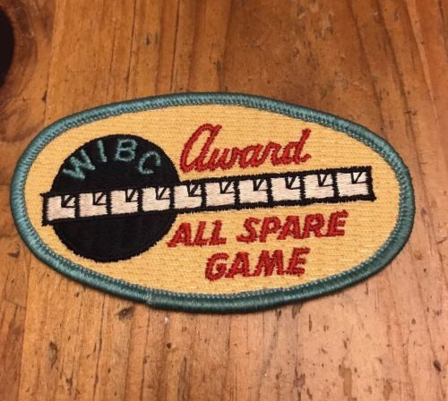 Vintage WIBC Bowling Patch Award All Spare Game