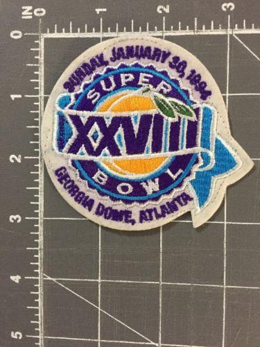 Super Bowl 28 XXVIII Atlanta Georgia GA Dome Patch Dallas Cowboys Buffalo Bills