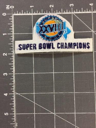 Super Bowl 28 XXVIII Champions Atlanta GA Patch Dallas Cowboys Buffalo Bills