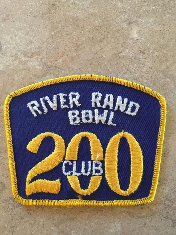 RIVER RAND BOWL 200 CLUB PATCH
