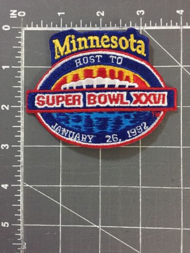Super Bowl 26 XXVI Minnesota MN Host Patch Washington Redskins Buffalo Bills