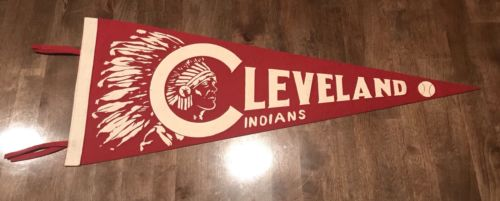 1940's Cleveland Indians Baseball Pennant