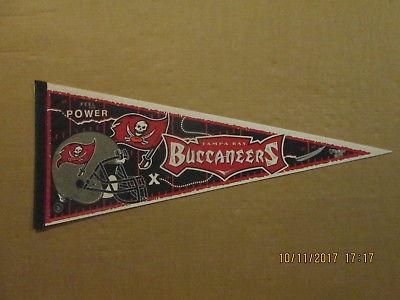 NFL Tampa Bay Buccaneers Vintage 1997 FEEL THE POWER Logo Football Pennant