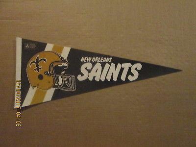 NFL New Orleans Saints Vintage 1990's 2 Bar Facemask Football Pennant