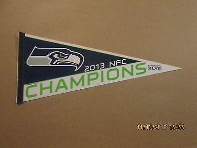 NFL Seattle Seahawks Vintage 2013 NFC CHAMPIONS Football Pennant