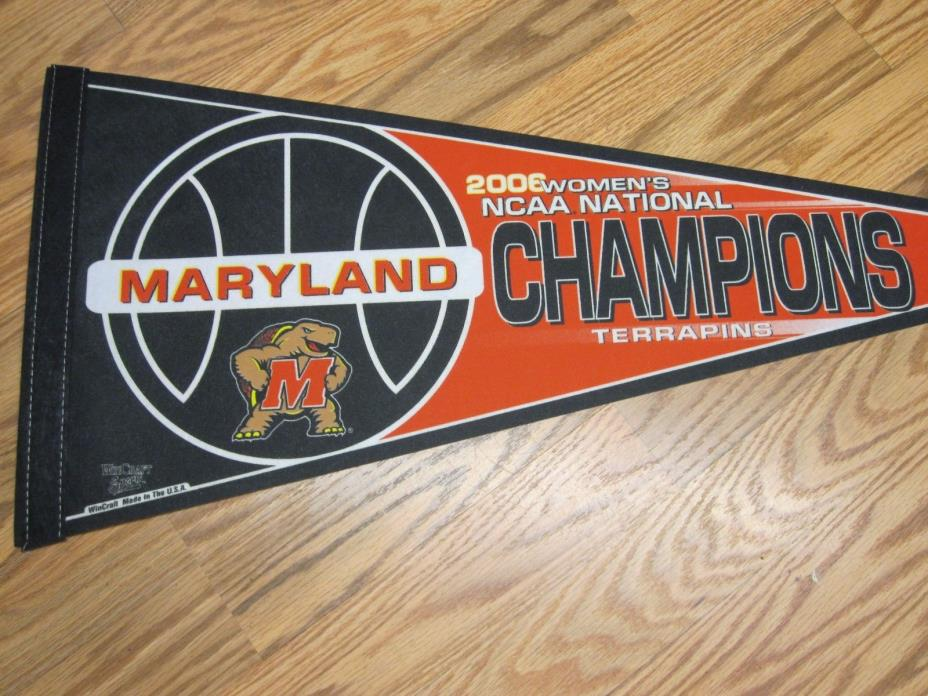 MARYLAND TERRAPINS 2006 NCAA WOMEN'S BASKETBALL NATIONAL CHAMPIONS PENNANT