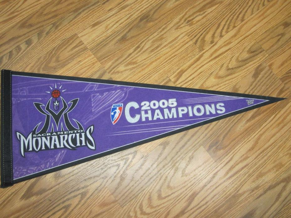 SACRAMENTO MONARCHS 2005 WOMEN'S WNBA CHAMPIONS PENNANT FULL SIZE SHIPPED FLAT!