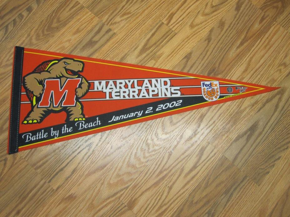 MARYLAND TERRAPINS 2005 NCAA ORANGE BOWL GAME DAY BATTLE BY THE BEACH PENNANT
