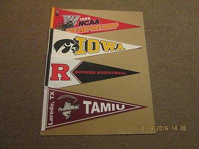NCAA Lot of 4 Vintage TAMIU Rutgers Iowa ETC Pennants