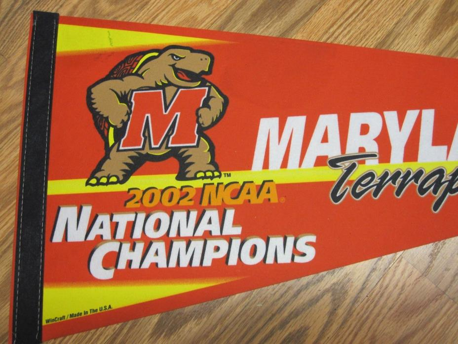 MARYLAND TERRAPINS 2002 NCAA BASKETBALL NATIONAL CHAMPIONS  PENNANT