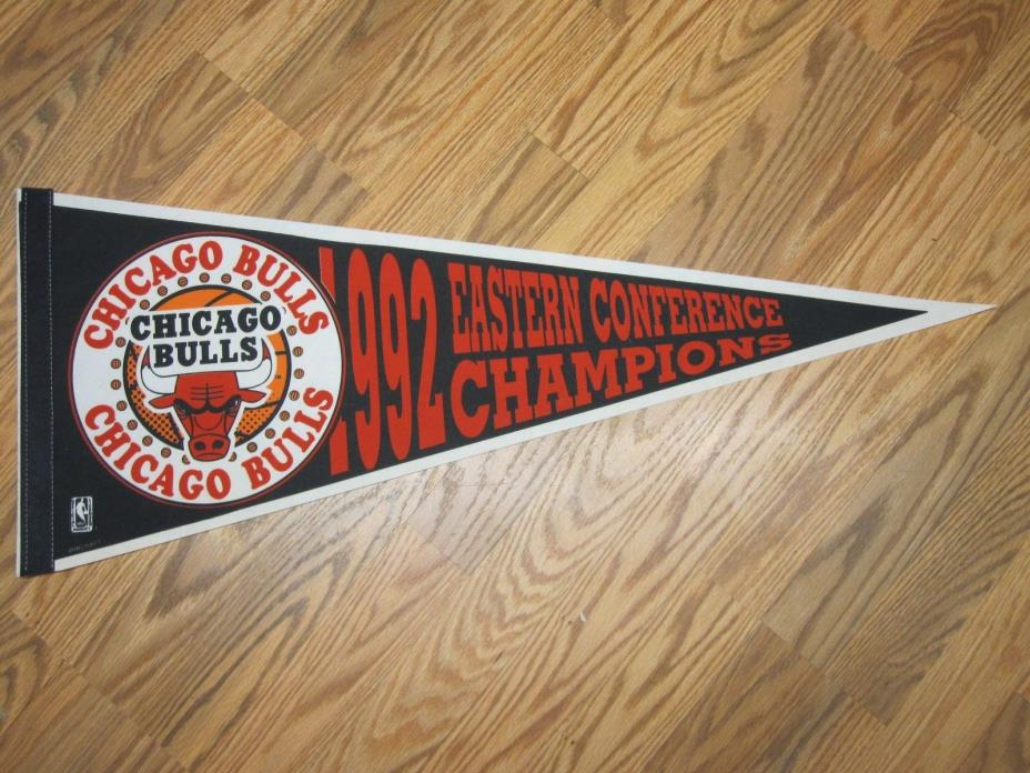 CHICAGO BULLS 1992 EASTERN CONFERENCE CHAMPIONS PENNANT 12