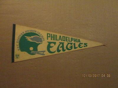 NFL Philadelphia Eagles Vintage 1980 Eastern Division Champs Football Pennant