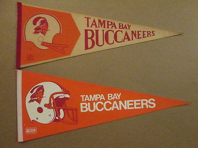 NFL Tampa Bay Buccaneers Vintage Lot of 2 Logo Pennants