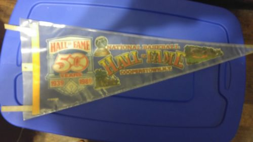 1989 National Baseball Hall of Fame Pennant Celebrating 50 Years 1939 1989 Cover