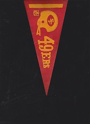 VINTAGE LATE 60'S/EARLY 70'S SAN FRANSISCO 49ERS MINI FELT PENNANT(4 X 9)
