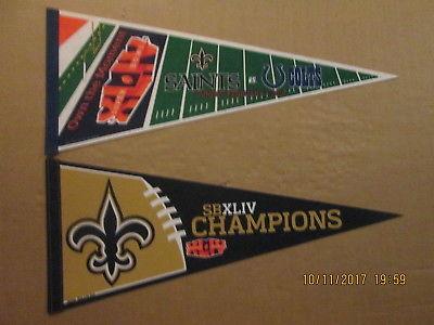 NFL New Orleans Saints Super Bowl XLIV Own The Moment & SB XLIV Champs Pennants
