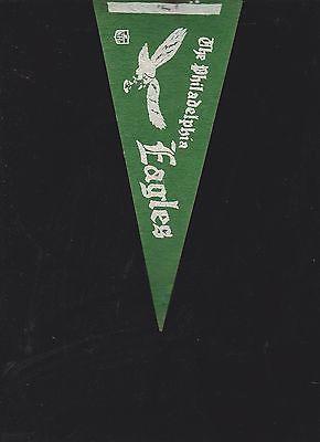 VINTAGE LATE 60'S/EARLY 70'S PHILADELPHIA EAGLES MINI FELT PENNANT(4 X 9)