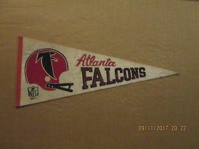 NFL Atlanta Falcons Vintage Circa 1967 2 Bar Helmet Logo Football Pennant