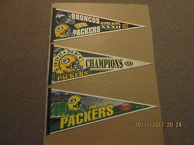 NFL Green Bay Packers Super Bowl XXXII 1996 NFC Champs Circa 2000's Pennants