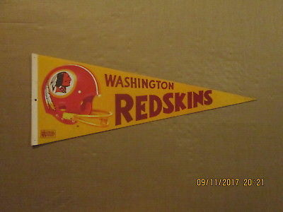 NFL Washington Redskins Vintage Circa 1980's 3D Logo Football Pennant