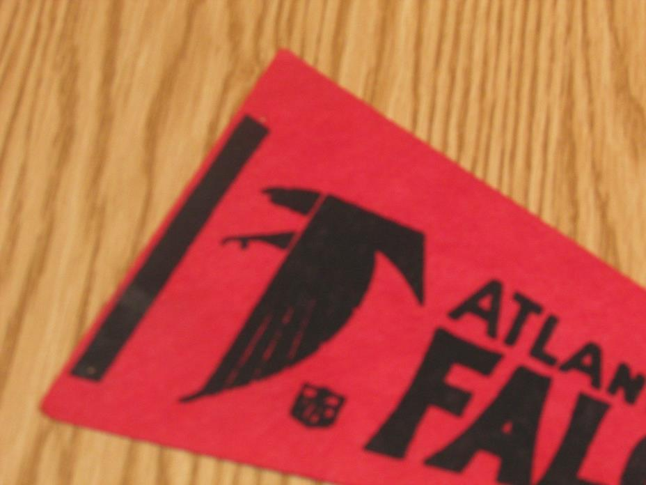 Vintage NFL Atlanta Falcons 1970's Mini Pennant, 4x9 Inches, Nice!! Stiff!!