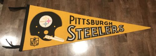 1960s Pittsburgh Steelers Single Bar Pennant Nice Condition