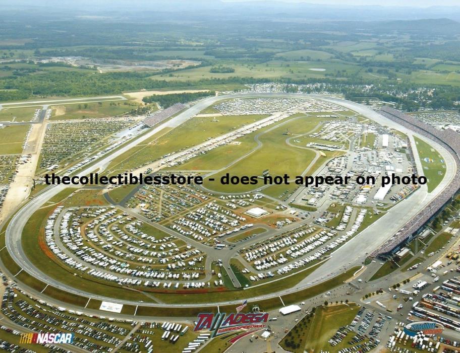 TALLADEGA SUPERSPEEDWAY NASCAR CUP STOCK CAR RACING RACE TRACK AERIAL PHOTO