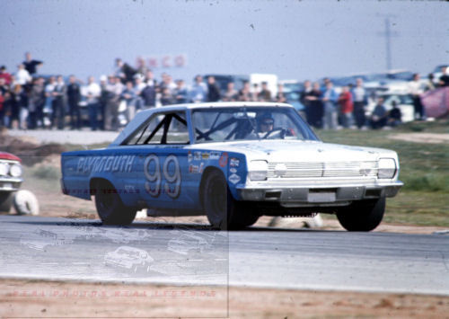 PAUL GOLDSMITH # 99 PLYMOUTH 1967 AT RIVERSIDE 11x14 PHOTO #3
