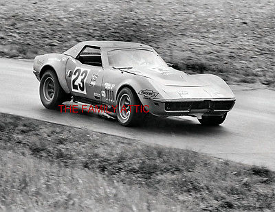 #23 CORVETTE WILBUR PICKETT CHR KEMP 1972 CAR RACE PHOTO DANVILLE 250 VIR RACING
