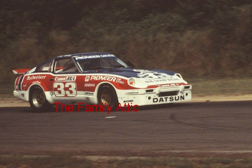5 PAUL NEWMAN DATSUN 280ZX RACING PHOTOS RACE CAR BOB SHARP BUDWEISER CANNON '80