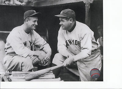 RUTH & GEHRIG - *ORIGINAL* - 1928 PRE-GAME - *PHOTO FILE - ORIGINAL PHOTO*