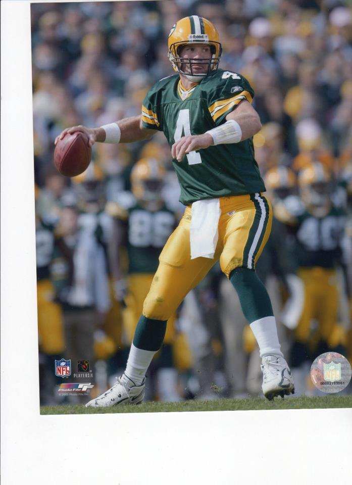 BRETT FAVRE - * O R I G I N A L * - GREEN BAY - HALL OF FAME - NFL PHOTO