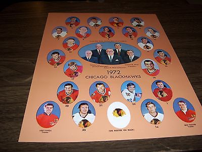 8x10 glossy photos of the Chicago Blackhawks from the early 1970's-very rare
