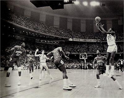 Michael Jordan Unsigned 16x20 Photo North Carolina VS Georgetown Patrick Ewing