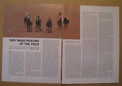 1973 Secretariat 2 pages article Color Photo