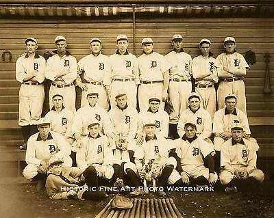 1907 DETROIT TIGERS BASEBALL TEAM VINTAGE PHOTO TY COBB 8X10 HQ GLOSSY #21734