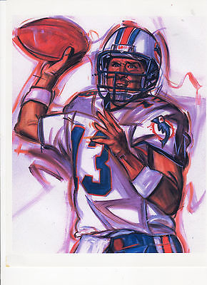 DAN MARINO - *DOLPHIN GAME ACTION - LITHOGRAPH* - 8X10 LITHO REPRINT