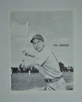 Vintage 1961 Brooklyn Dodgers Gil Hodges 8x10 Photo  FLASH SALE