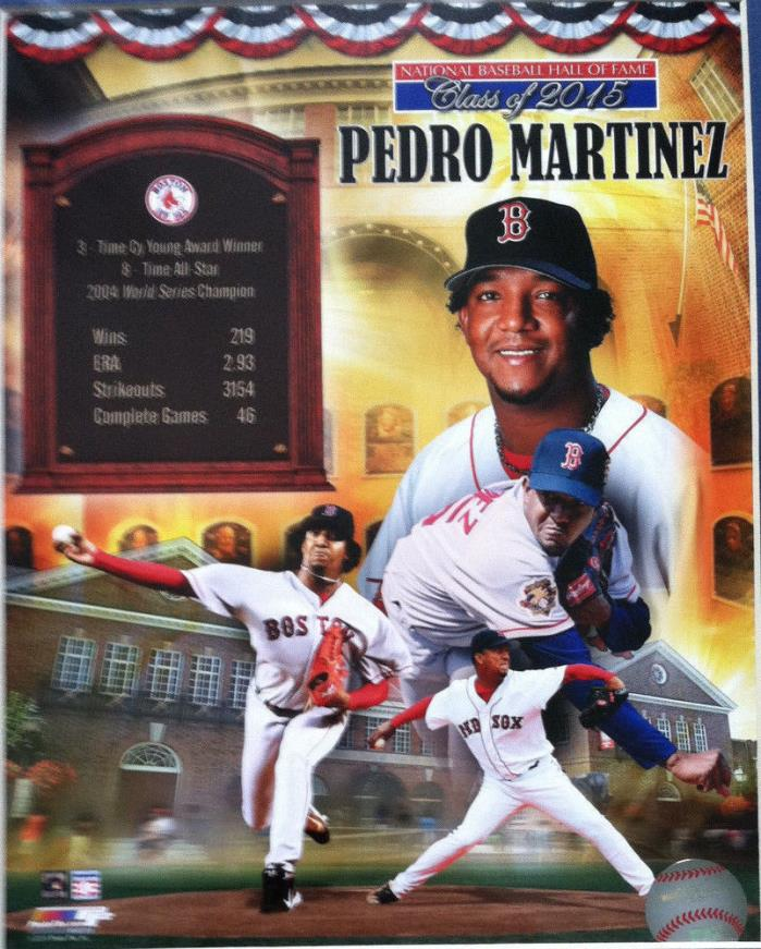 PEDRO MARTINEZ BASEBALL HALL OF FAME INDUCTION 8X10 PHOTO BOSTON RED SOX