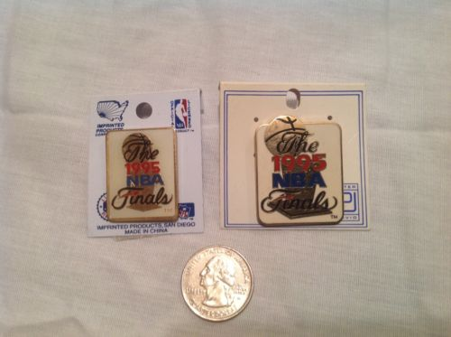 2 each 1995 NBA Finals lapel pins