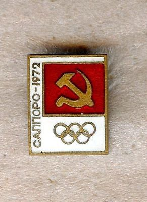 NOC USSR CCCP 1972 Sapporo OLYMPIC Games Pin Enamel ORIGINAL